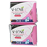 V-LOVE Breathable Anion Ultral Thin Pads for Women with Wings, Normal absorbency, Unscented -20 Count (Pack of 2)