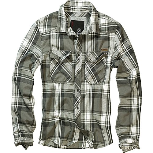 Brandit quadretti Camicia-Camicia da uomo verde XX-Large