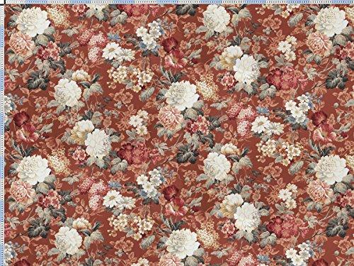 Englische Polstermöbel Landhausstil ~  , braunrot  Stilvolle BlumenKomposition im englischen Landhausstil