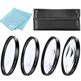 49mm Close-Up Filter Set (+1, 2, 4 and +10 Diopters) for Canon EOS M6, EOS M50, EOS M100 Mirrorless Digital Camera with EF 15-45mm Lens (Color: 4PC Close Up Filter Set)
