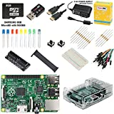 CanaKit Raspberry Pi B+ Ultimate Starter Kit (Over 35 Components: Raspberry Pi B Plus + WiFi Dongle + 8GB SD Card + Case + Power Supply and many more)