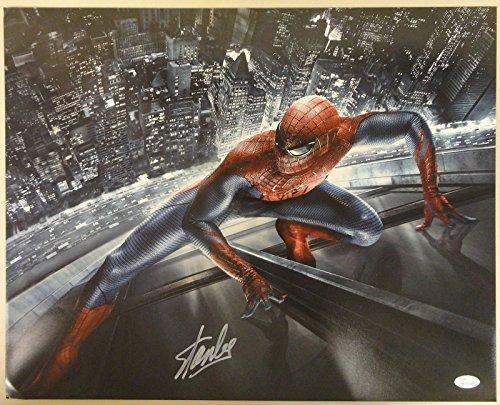 Stan Lee Signed Auto Autograph 16x20 Spiderman Photo - JSA - Marvel