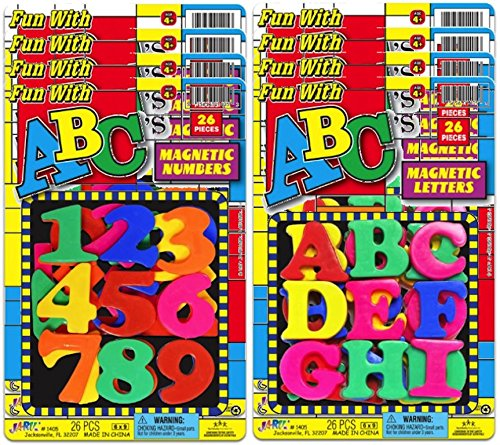 Ja-Ru Abc'S Magnetic Letters And Numbers Party Favor Bundle Pack front-1079036