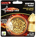 Gamo Outdoors AirStar 6 Blade Sharp Tip Hunting Pellet, .177 Caliber