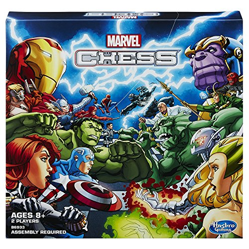 Marvel Chess Game (Loki Helmet For Sale)