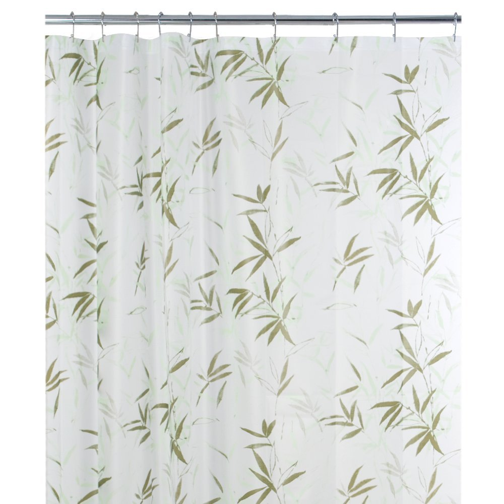 100 Peva Shower Curtain Liner Bamboo Leaf Hooks Ocean Beach Bathroom Decor Home Ebay