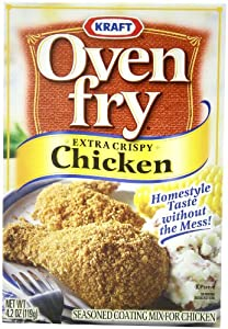 Oven Fry Seasoned Coating Mix, Extra Crispy Chicken, 4.2-Ounce Boxes (Pack of 8)