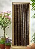 Vorhang aus feinen Holzperlen.* Maße ca. 90 cm x 200 cm (B x H)* elegant leis schwingend* ideal als Dekovorhang oder Türvorhang zu verwenden