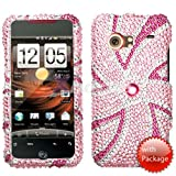Pink Windmill Diamante Full Crystal Phone Case for HTC Droid Incredible Verizon