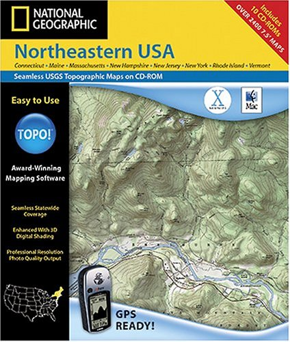 National Geographic TOPO Northeastern USA Map CD-ROM MacB0000DYT8V