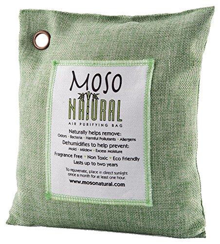 MosoNatural Bag モソバック 200g モソナチュラル 全米NO.1空気清浄バッグ 最高級竹炭使用 麻生地 消臭 調湿 有害な汚染物質やアレルギー源となる臭いを除去 余分な水分の吸収 過剰な湿気、バクテリア、カビなどを防御 化学物質無使用、無香、無毒 効果は約2年間 (Green)