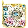 Michel Design Works Honeysuckle Cotton Potholder, Multicolor
