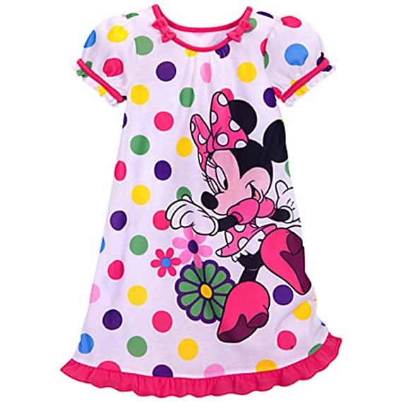 Disney Store Minnie Mouse Nightshirt Polka Dot Size S Small 5 6 5T
