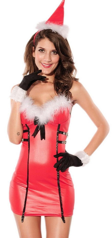 Lukis Damen Weihnachtskostüm Weihnachtskleid Weihnachtscosplay Babydoll