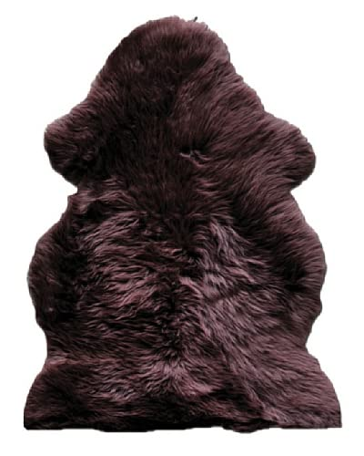 Natural Brand New Zealand Sheepskin Single Rug, Chocolate, 2' x 3'