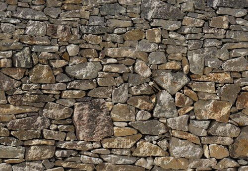 Stone Wall Huge Wall Mural 8-727 by Komar 12 Feet Wide x 8 Feet 4 Inch High Photo Mural (Stone Wall Panels compare prices)