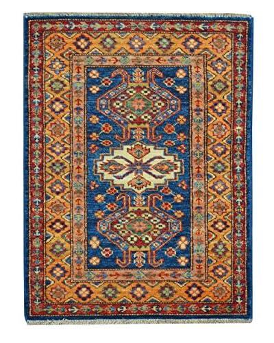 Kalaty One-of-a-Kind Kazak Rug, Blue/Gold, 1' 10 x 2' 10