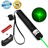 Sandeye Tactical Hunting Rifle Scope Sight Green Laser Pointer, Demo Remote Pen Pointer Projector Travel Outdoor Flashlight, LED Interactive Baton Funny Laser Toy