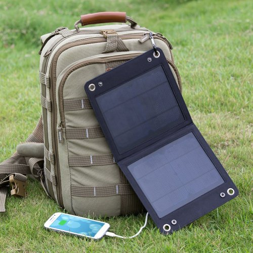 Levintm Traveller 7W Foldable Solar Panel Portable Solar Charger For Iphone, Ipod, Samsung Galaxy Series Phones And Other Android Phones,Windows Phones, Bluetooth Speakers, And Many Other 5V Usb-Charged Devices