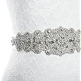Redowa Rhinestone wedding dress applique patch for bridal sash belt