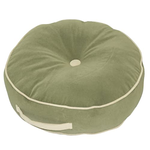 Greendale Home Fashions 20-Inch Round Floor Pillow, Hyatt fabric, Moss
