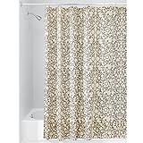 InterDesign Twigz Shower Curtain, Vanilla and Bronze, 72-Inch by 72-Inch