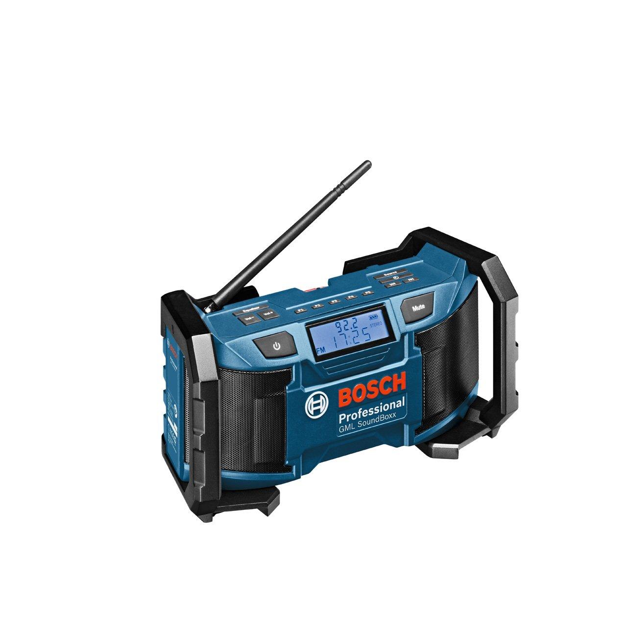 Bosch Professional GML SoundBoxx, 531  1.602 kHz Radiofrequenzbereich AM, 87,5  108 MHz Radiofrequenzbereich FM, DCin Adapter, AuxIn Kabel  BaumarktBewertungen