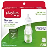 Playtex Baby Nurser Bottle with Disposable Drop-Ins Liners, for Breastfed Babies, 4 Ounce Bottles, 3 Count (Color: Multi, Tamaño: 4 Ounce)
