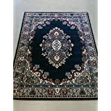 Very Large New Traditional Navy Rug carpet 280 x 365 cm (9'2