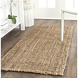 Safavieh Natural Fiber Collection NF447A Hand Woven Natural Jute Runner, 2 feet 6 inches by 10 feet (2\'6\