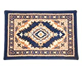 Oriental 96088 Perserteppich mit orientalischen Mustern, für Kraftfahrzeug, 60 x 40 cm, 1 Stück, blau