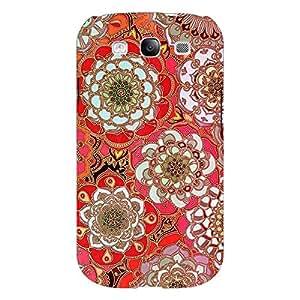 Jugaaduu Orange Flowers Pattern Back Cover Case For Samsung Galaxy S3
