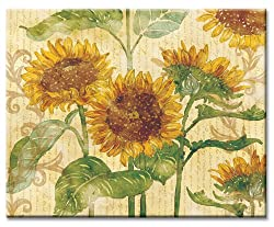 CounterArt Reflections of the Sun Glass Cutting Board, 14-7/8 by 11-3/4 Inches