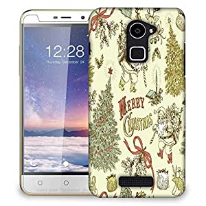Snoogg Merry Christmas Cream Designer Protective Phone Back Case Cover For Coolpad Note 3 Lite