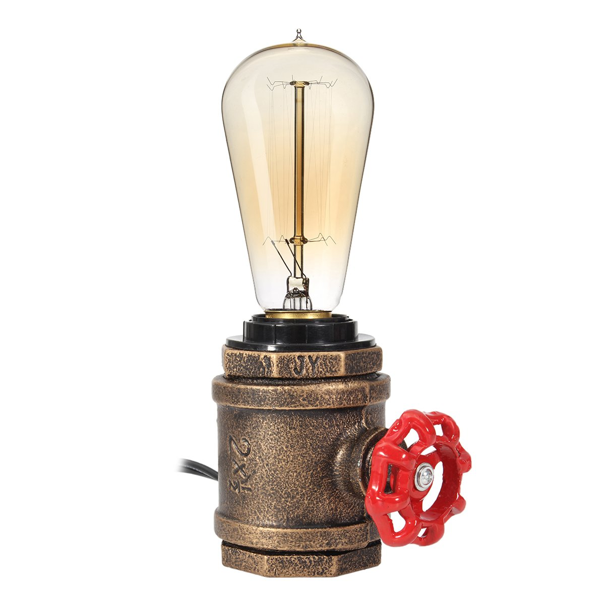 Elfeland Vintage Table Lamp With Ul Listed Button Switch