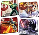 Vandor 99085 Star Wars 4 pc Wood Coaster Set, Multicolor