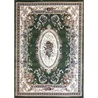 Traditional Area Rug 9 Ft. 2 In. X 12 Ft. 6 In. Green Bellagio 451