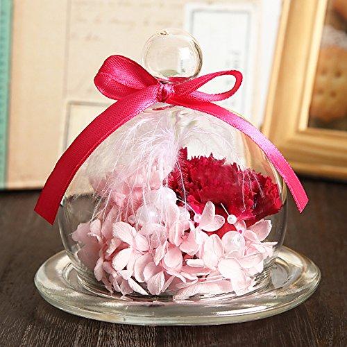 【Amazon.co.jp限定】 母の日ギフト TEATSIGHT(ティートサイト) プリザーブドフラワー ギフト 枯れないお花 「ガラスポット入り カーネーション」【ピンク】