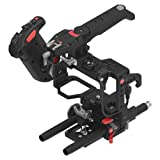 JTZ DP30 JL-JS7 Camera Cage with 15mm Rail Rod Baseplate Rig and Top Handle+Electronic Handle Grip for SONY A7,A7II,A7R,A7RII,A7S,A7SII DSLR Cameras (Color: Basic Camera Cage rig+Grip, Tamaño: Basic camer cage rig+Grip)