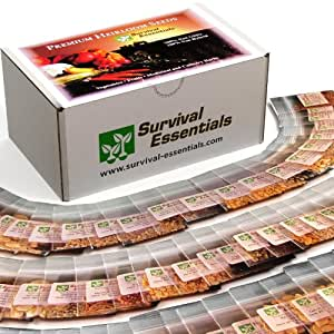 Survival Essentials Heirloom Survival Seed Bank Non GMO and Non Hybrid Seeds , 100 Varieties