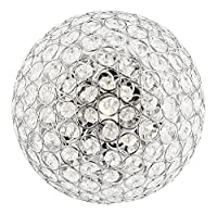 Modern Round Chrome & Clear Glass IP44 Rated Bathroom Ceiling Light by Haysom Interiors from Haysom Interiors