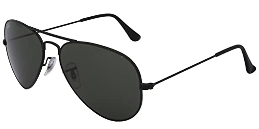 black ray ban aviators  Ray-Ban Aviator Sunglasses (Black) (RY608BL55): Amazon.in ...