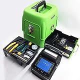 YEDEMC SM&MM Automatic Fiber Optical Welding Splicing Machine Optical Fiber Fusion Splicer Ai-7 & Fiber Cleaver (Green_Box_Ai-7) (Color: Green_Box_Ai-7)