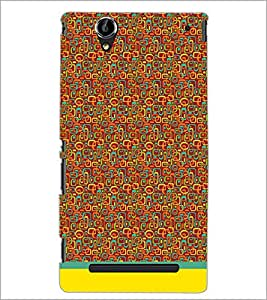 PrintDhaba Shapes Pattern D-1505 Back Case Cover for SONY XPERIA T2 ULTRA (Multi-Coloured)