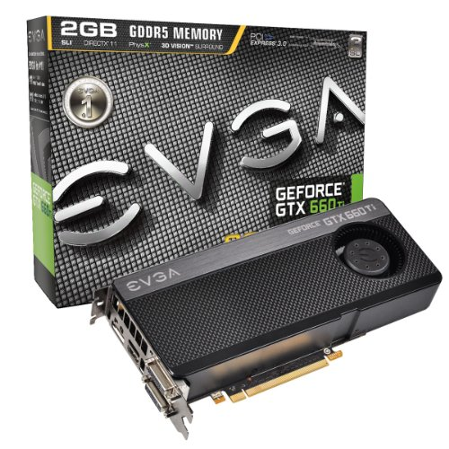 EVGA GeForce GTX 660Ti SUPERCLOCKED 2048MB GDDR5 DVI-I, DVI-D, HDMI, DP, SLI Graphics Card (02G-P4-3662-KR) Graphics Cards 02G-P4-3662-KR