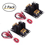 TopDirect 2 Pack Heated Bed Module MOS Tube High Current Load Power Add-on Hot Bed Power Expansion Board for Extruder, Ramps, ANET A8/A6/A2, Makerbot MK8, RepRap, Mendel, Prusa i3, E3D V6 3D Printer