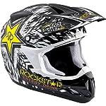 Rockstar Energy Drink Officially Licensed AR Youth Boys A12 Nova Motocross/Off-Road/Dirt Bike Motorcycle Helmet - Black / Small