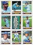 Kansas City Royals 1979 Topps Baseball Team Set (27 Card Set) (Willie Wilson Rookie) (George Brett) (Hal McRae) (Amos Otis) (Frank White) (Darrell Porter) (Freddie Patek) (Clint Hurdle) (Doug Bird) (Steve Braun) (Al Cowens) (Tom Poquette)