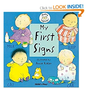 Teaching Toddler Thursdays >> My First Signs, illustrated by Annie Kubler   Rushing to Read