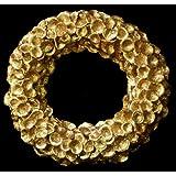 Exotic Creations Sensuality -Dried flower wreath(Golden,L=40 cm X W=40 cm X D= 40 cm)